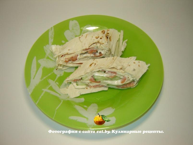 рецепт приготовления семги и лаваша