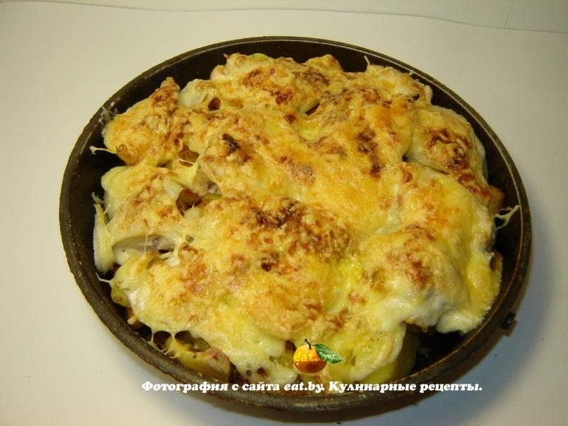 мясо с сыром и картошкой в мультиварке