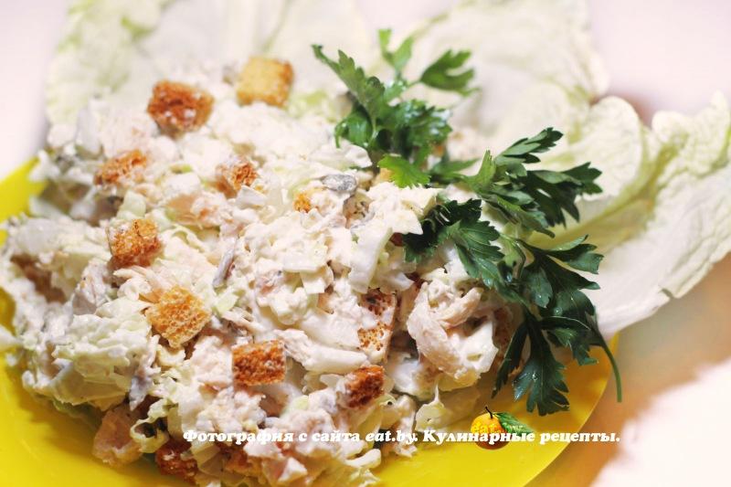 салат цезарь рецепт кириешки