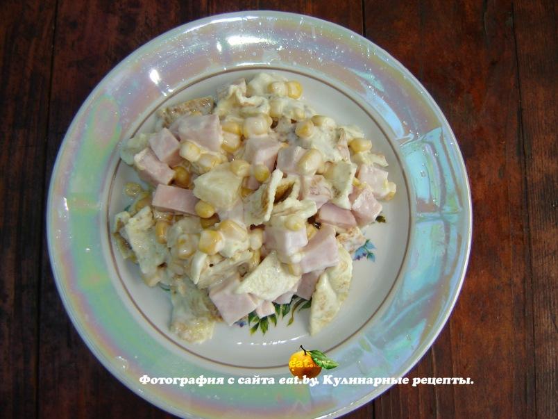 салат из ветчины и грибов фото рецепт