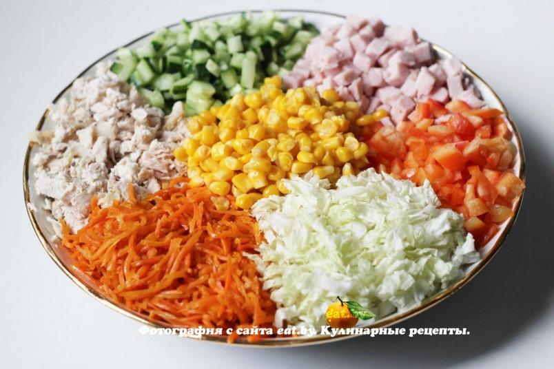 салат с сухариками рецепт без кукурузы