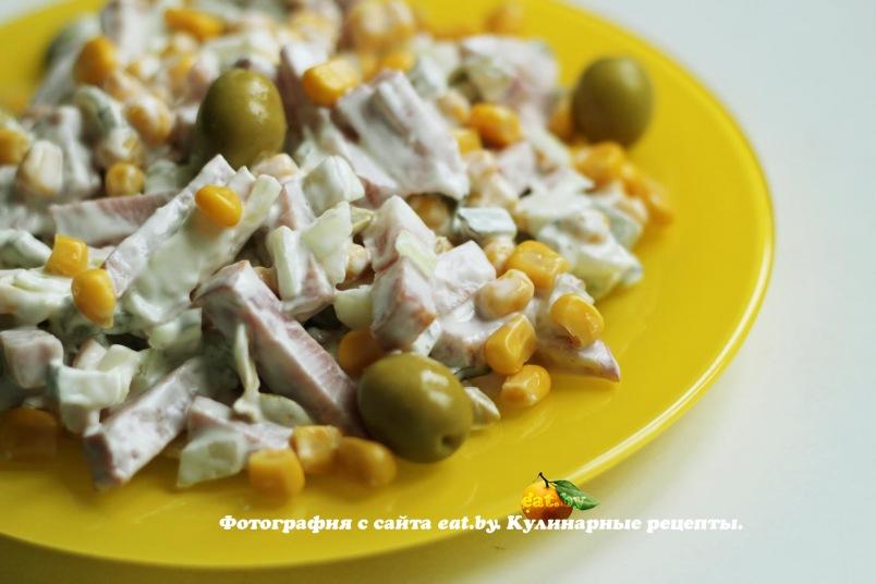 смотреть рецепт салат с оливками с картинками