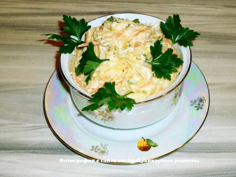 Салат ромашка рецепт с пошагово с ветчиной