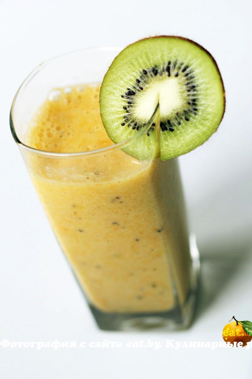 smoothie med kiwi og appelsin