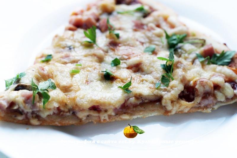 Рецепты пиццы ветчиной и шампиньонами