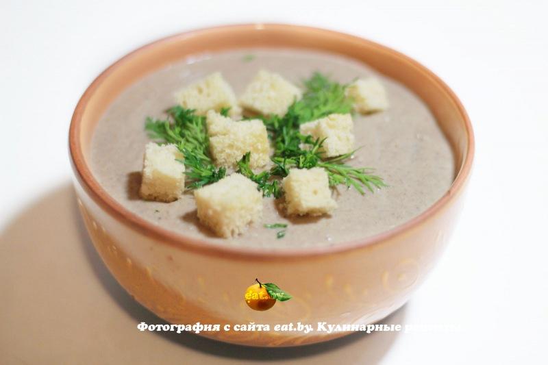 Суп-пюре из шампиньонов пошагово