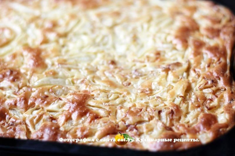 Простой пирог с капустой рецепт с фото