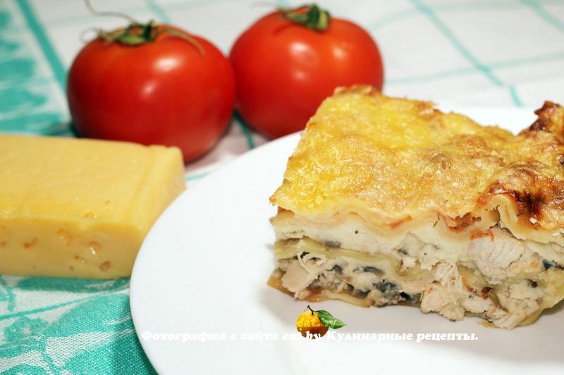Рецепт лазаньи с курицей с пошагово