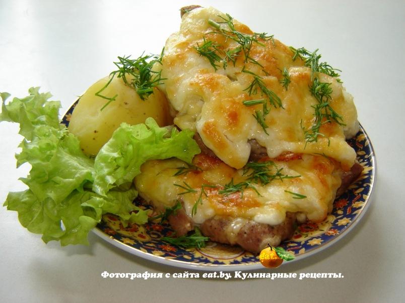 Говядина отбивная с помидором и сыром в духовке рецепт 120