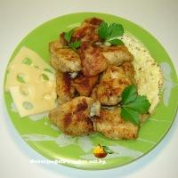 Курица в яйце и панировочном сухаре