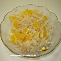 Салат из топинамбура (земляной груши) и апельсина