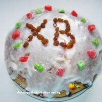 Пасхальный пирог(кулич) с изюмом и цукатами