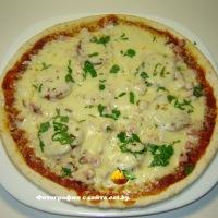 Пицца в микроволновке с ветчиной