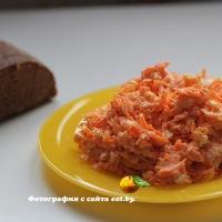 Салат из сырой моркови и сыра