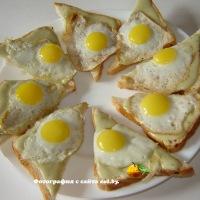Бутерброды с яйцом и фасолью