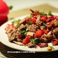 Холодное платильо (мексиканский салат из говядины)