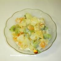Салат со сгущенкой и ананасом