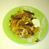 Говядина по-японски (с перцем и кунжутом)