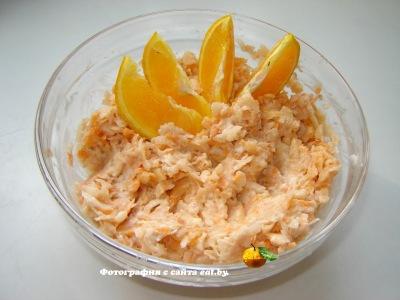 Салат из моркови, яблок и апельсина