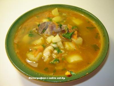 фото Суп с фасолью