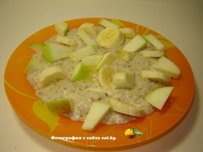 Овсянка (овсяная каша) с яблоками