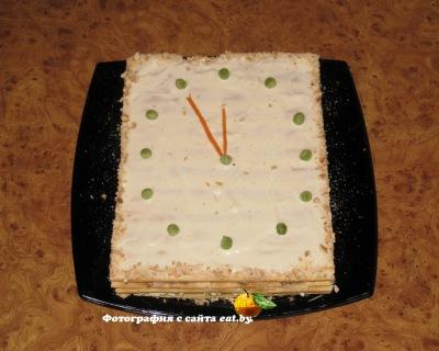 Слоеный пирог наполеон с сардиной