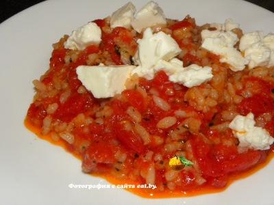 Жареный рис с томатами