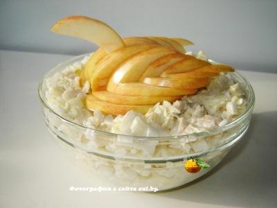 Салат из пекинской капусты и яблока