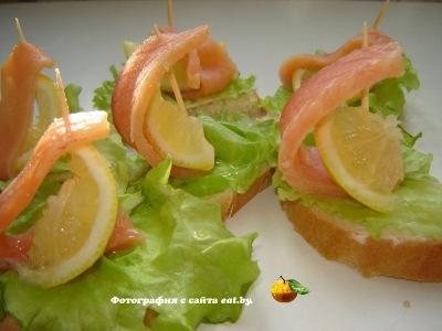 фото Бутерброды с красной рыбой
