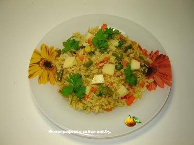 Рис со смесью овощей
