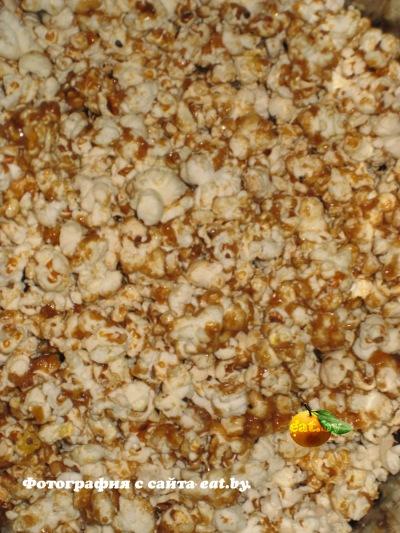 Как сделать попкорн с карамелью в домашних условиях