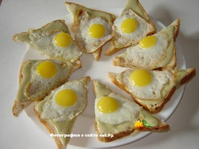 фото Бутерброды с яйцом и фасолью