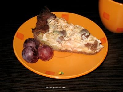 Пирог со сметанно-яблочной начинкой