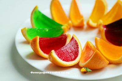 фото Желе в апельсинах
