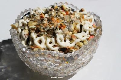 фото Салат с морской капустой
