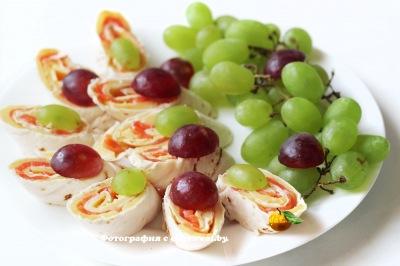 фото Лаваш с семгой и сыром