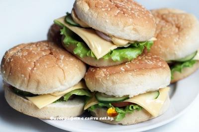 фото Домашний чизбургер