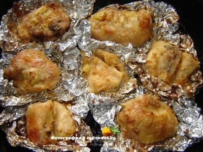 Курица, запеченная в фольге