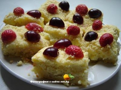 фото Творожный пирог