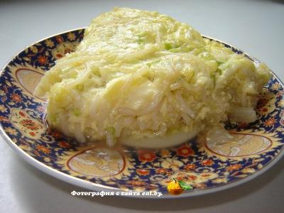 фото Запеканка из белокочанной капусты с макаронами